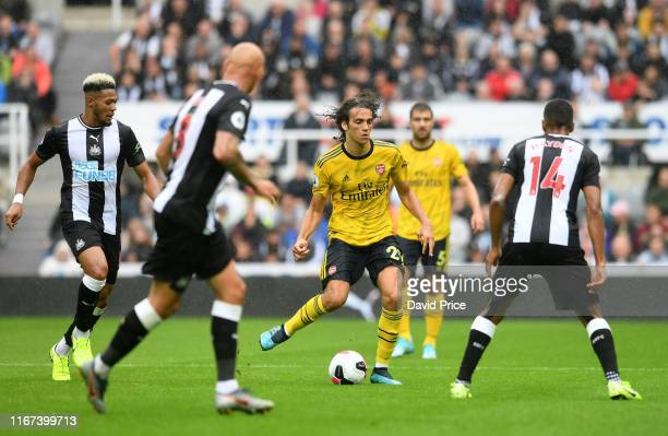 Matteo Guandouzi of Arsenal during the Premier League match between Newcastle United and Arsenal FC at St James Park on August 11 2019 in Newcastle...