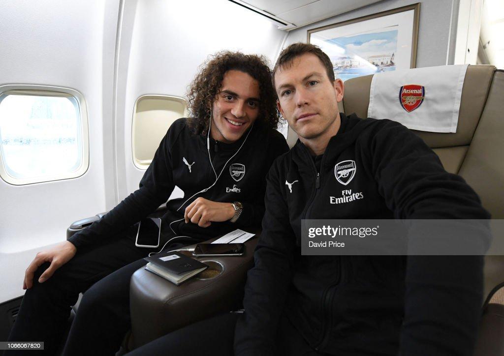 Arsenal Team Leave on Their Trip to Ukraine : Nachrichtenfoto