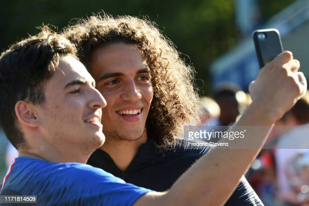 Matteo Guendouzi arrives to a training session at the French National Football Centre as part of the preparation to UEFA Euro 2020 on September 02...