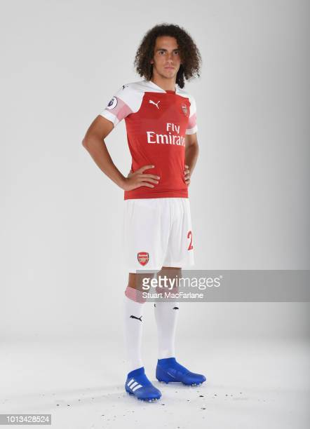Matteo Guendouzi of Arsenal at London Colney on August 8 2018 in St Albans England