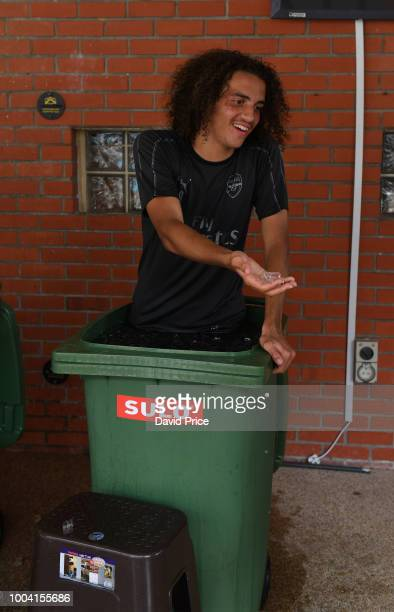 Matteo Guendouzi of Arsenal during an Arsenal Training Session at Singapore American School on July 23 2018 in Singapore