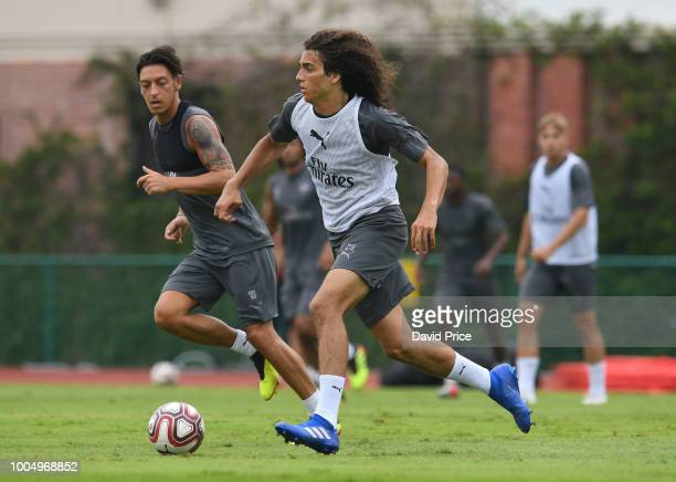 Matteo Guendouzi of Arsenal during the Arsenal Training Session at Singapore American School on July 25 2018 in Singapore