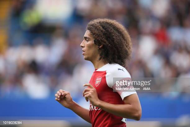 Matteo Guendouzi of Arsenal during the Premier League match between Chelsea FC and Arsenal FC at Stamford Bridge on August 18 2018 in London United...