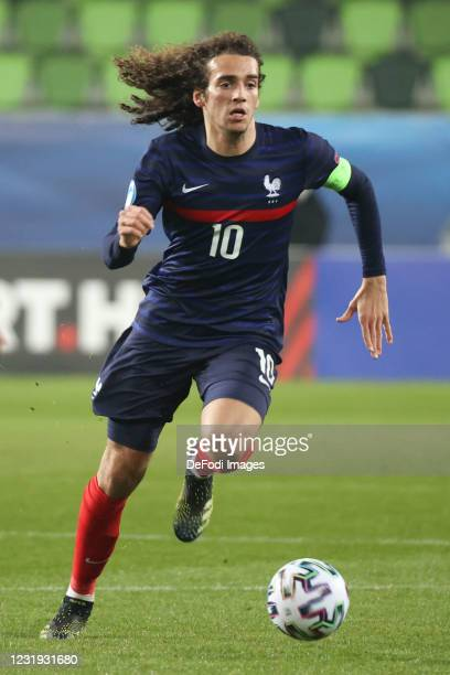 Matteo Guendouzi of France controls the ball during the 2021 UEFA European Under-21 Championship Group C match between France and Denmark at Haladas...