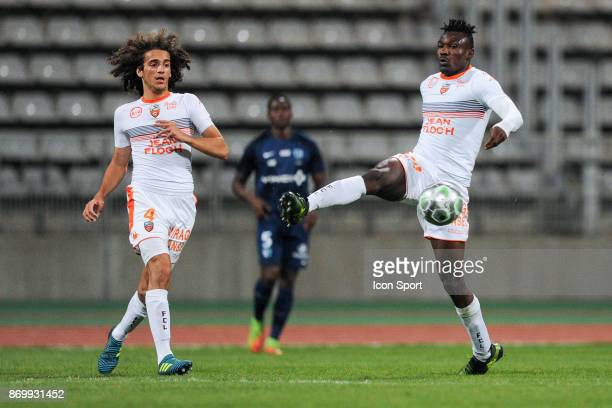 Matteo Guendouzi Olie and Franklin Wadja Tchantcho of Lorient during the French Ligue 2 match between Paris FC and Lorient at Stade Charlety on...