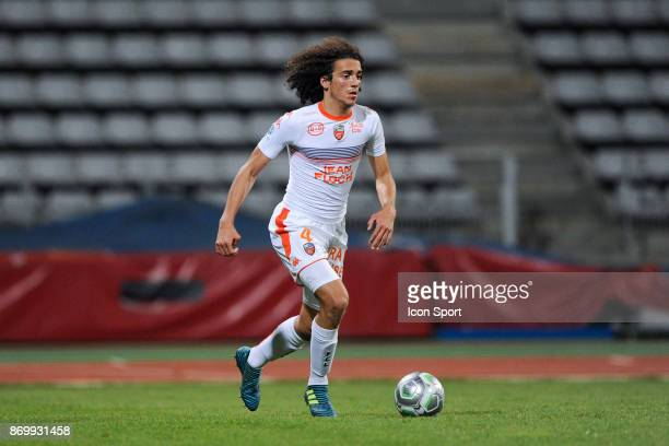 Matteo Guendouzi Olie of Lorient during the French Ligue 2 match between Paris FC and Lorient at Stade Charlety on November 3 2017 in Paris France