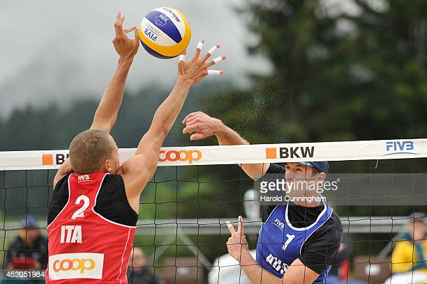 Matteo Ingrosso of Italy and Christopher McHugh of Australia in action during the men main draw match KapaMcHugh v Ingrosso PIngrosso as part of the...