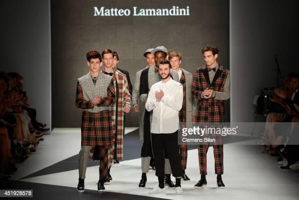Matteo Lamandini and models walk the runway during the DfT Award by Peek Cloppenburg Duesseldorf and Fashion ID as part of MercedesBenz Fashion Week...