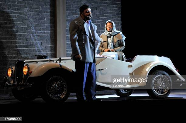 Matteo Lippi as Duke of Mantua and Vuvu Mpofu as Gilda in Giuseppe Verdi's Rigoletto directed by Christiane Lutz and conducted by Thomas Blunt at...