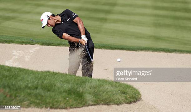 Matteo Manassero of Italy during the third round of Abu Dhabi HSBC Golf Championship at the Abu Dhabi HSBC Golf Championship on January 28 2012 in...