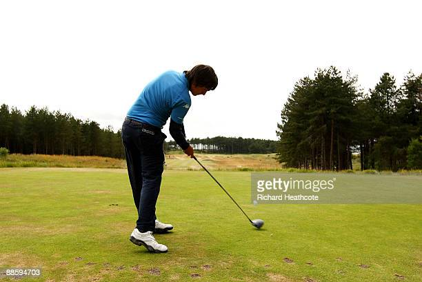 Matteo Manassero of Italy in action during The Amateur Championship Final between Matteo Manassero and Sam Hutsby at Formby Golf Club on June 19,...