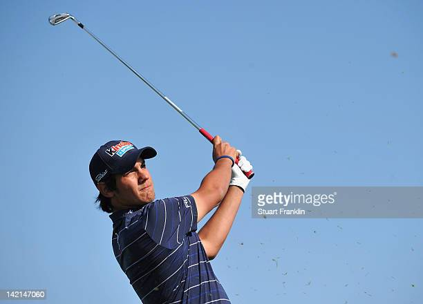 Matteo Manassero of Italy plays a shot during the second round of the Sicilian Open at Verdura Golf and Spa Resort on March 30 2012 in Sciacca Italy