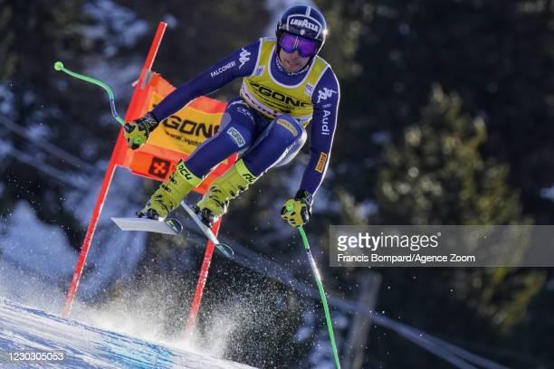 Matteo Marsaglia of Italy during the Audi FIS Alpine Ski World Cup Men's Downhill Training on December 26 - December 27, 2020 in Bormio Italy.