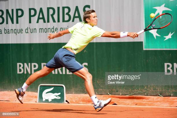 Matteo Martineau during day 11 of the French Open at Roland Garros on June 7 2017 in Paris France
