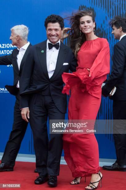 Matteo Marzotto and Nora Shkreli attend the The Franca Sozzani Award during the 74th Venice Film Festival at Sala Giardino on September 1 2017 in...