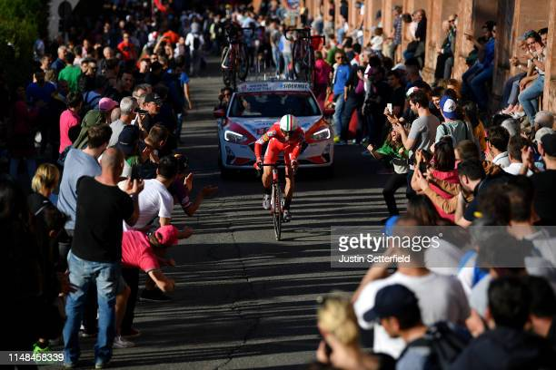 Matteo Montaguti of Italy and Team Androni Giocattoli Sidermec / Public / Fans / Landscape / during the 102nd Giro d'Italia 2019 Stage 1 a 8km...