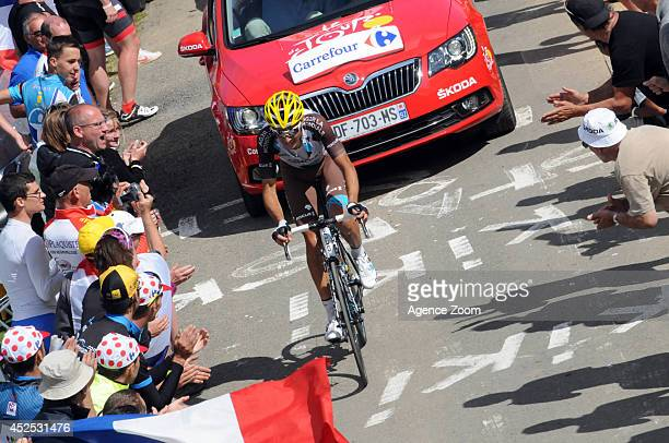 Matteo Montaguti of Team AG2R La Mondiale during Stage 16 of the Tour de France on July 22 2014 in BagneresdeLuchon France