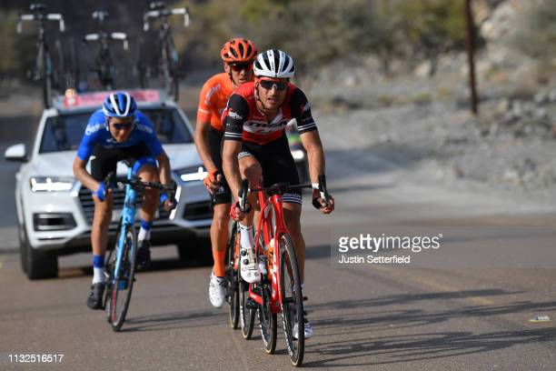 Matteo Moschetti of Italy and Team TrekSegafredo / Alessandro De Marchi of Italy and CCC Team / during the 5th UAE Tour 2019 Stage 4 a 197km stage...