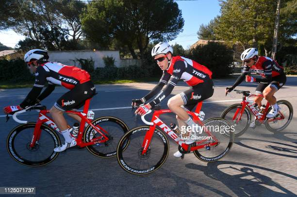 Matteo Moschetti of Italy and Team TrekSegafredo / Michael Gogl of Austria and Team TrekSegafredo / Alex Frame of New Zealand and Team TrekSegafredo...