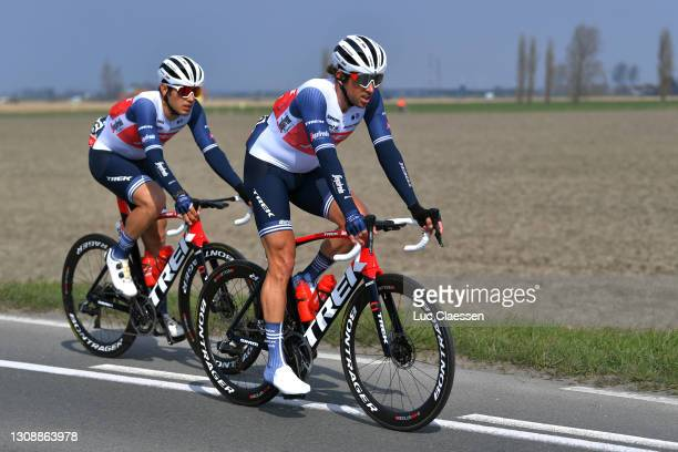 Matteo Moschetti of Italy & Koen De Kort of Netherlands and Team Trek - Segafredo during the 45th Oxyclean Brugge - De Panne 2021, Men Classic a...