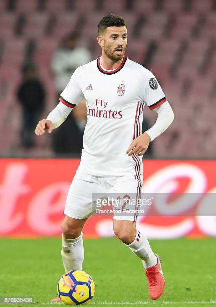 Matteo Musacchio of AC Milan in action during the Serie A match between SSC Napoli and AC Milan at Stadio San Paolo on November 18 2017 in Naples...