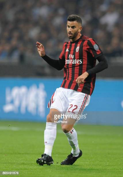 Matteo Musacchio of Milan player during the match valid for Italian Football Championships Serie A 20172018 between FC Internazionale and AC Milan at...