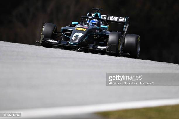 Matteo Nannini of Italy and HWA Racelab drives during Day Two of Formula 3 Testing at Red Bull Ring on April 04, 2021 in Spielberg, Austria.