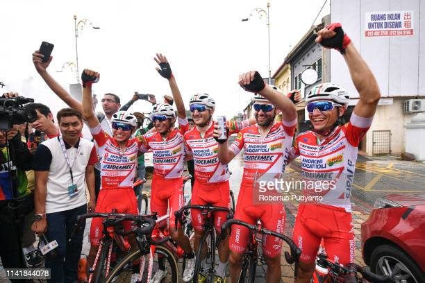 Matteo Pelucchi of Androni Giocattoli-Sidermec celebrates victory after winning Stage 6 of the 24th Le Tour de Langkawi 2019, Bagan to Alor Setar on...