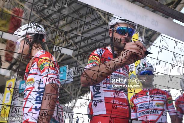 Matteo Pelucchi of Androni Giocattoli-Sidermec signs on during Stage 5 of the 24th Le Tour de Langkawi 2019, Tanjung Malim to Taiping on April 10,...
