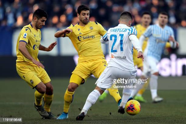 Matteo Pessina of Hellas Verona in action during the Serie A match between SPAL and Hellas Verona at Stadio Paolo Mazza on January 5 2020 in Ferrara...