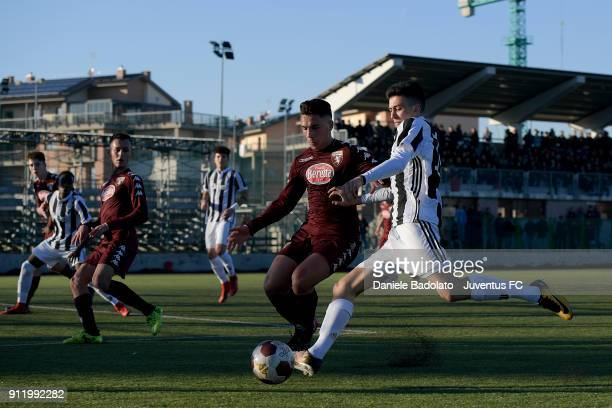 Matteo Pinelli during the U17 match between Torino FC and Juventus on January 28 2018 in Turin Italy