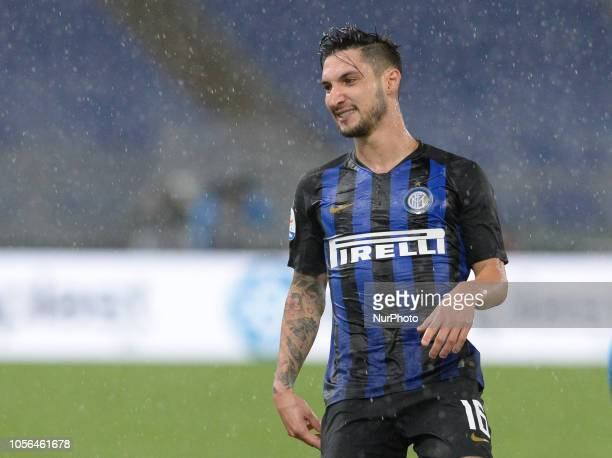 Matteo Politano during the Italian Serie A football match between SS Lazio and Inter at the Olympic Stadium in Rome on october 29 2018