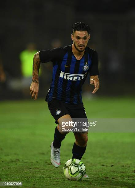 Matteo Politano of FC Internazionale in action during the International Champions Cup 2018 match between FC Internazionale and Olympique Lyonnais at...