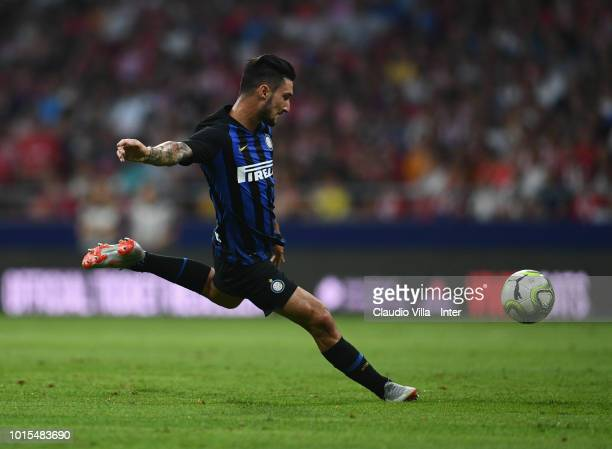 Matteo Politano of FC Internazionale in action during the International Champions Cup 2018 match between Atletico Madrid and FC Internazionale at...