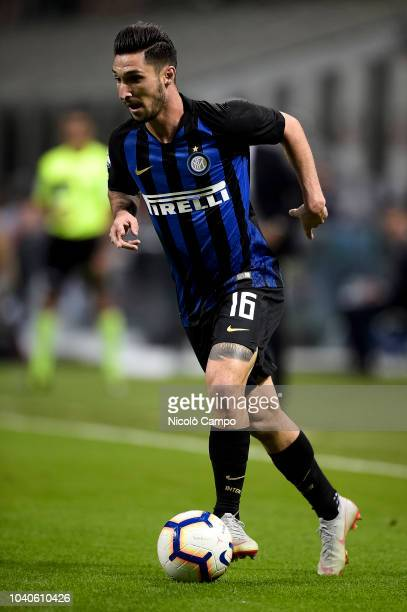 Matteo Politano of FC Internazionale in action during the Serie A football match between FC Internazionale and ACF Fiorentina FC Internazionale won...