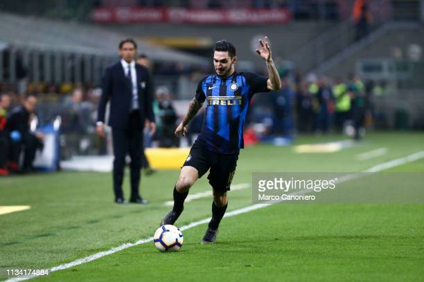 Matteo Politano of FC Internazionale in action during the Serie A match between FC Internazionale and Ss Lazio Ss Lazio wins 10 over Internazionale Fc