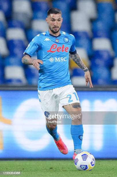 Matteo Politano of SSC Napoli during the Serie A match between SSC Napoli and Hellas Verona at Stadio Diego Armando Maradona, Naples, Italy on 23 May...