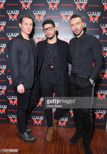 Matteo Puppi and Luca Borin attend Collini Unminimal Party Milan Fashion Week Autumn / Winter 2019/20 on February 20 2019 in Milan Italy