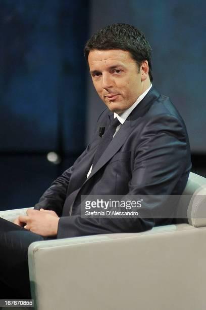 Matteo Renzi attends 'Che Tempo Che Fa' TV Show on April 27 2013 in Milan Italy