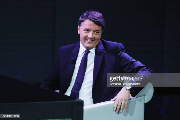 Matteo Renzi attends 'Che Tempo Che Fa' TV Show on December 3 2017 in Milan Italy