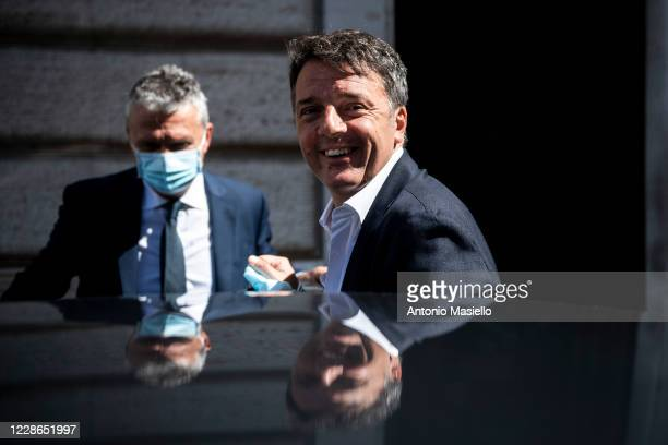 Matteo Renzi leader of Italia Viva speaks to the media after the results of the constitutional referendum and Regional election, on September 22,...