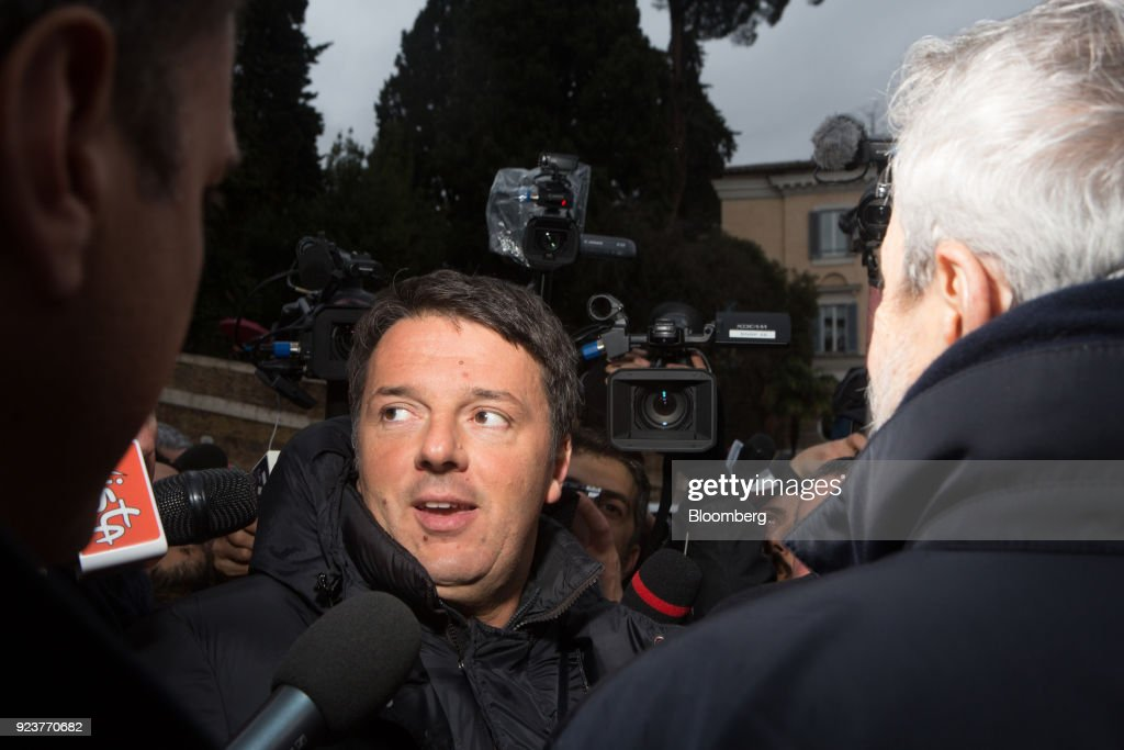 Democratic Party Leader Matteo Renzi Attends A General Election Campaign Rally