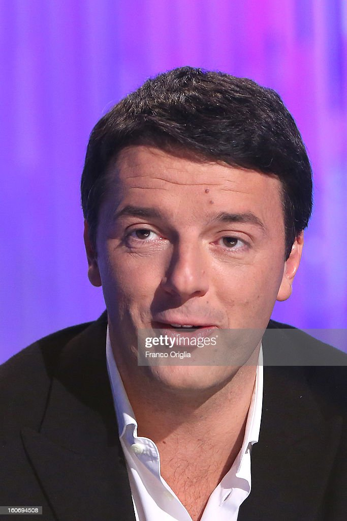 Matteo Renzi, mayor of Florence and member of the Democratic Party (PD) attends 'Otto e Mezzo' Italian TV Show at La7 studios on February 4, 2013 in Rome, Italy. The 2012 Italian centre-left primary election determined the leader of the coalition. Common Good, who will stand as common candidate for the office of Prime Minister in the subsequent general election, which will be held on February 24, 2013. It was won with 61% of the votes by Pier Luigi Bersani, who defeated the 37-years old mayor of Florence Matteo Renzi in the run-off.