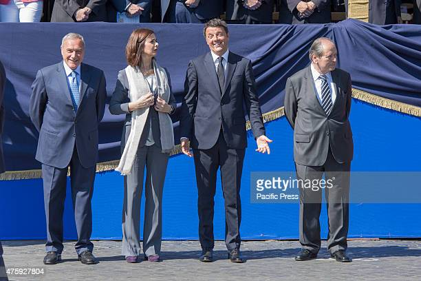IMPERIALI ROME ROMA ITALY Matteo Renzi stands at stage during the Festa della Repubblica or the Italian National Day which is celebrated on the 2nd...