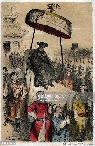 Matteo Ricci missionary in China engraving from Histoire dramatique et pittoresque des Jesuites depuis la fondation de l'ordre jusqu'a nos jours by...