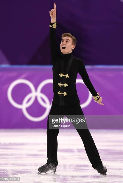 Matteo Rizzo of Italy competes during the Men's Single Free Program on day eight of the PyeongChang 2018 Winter Olympic Games at Gangneung Ice Arena...