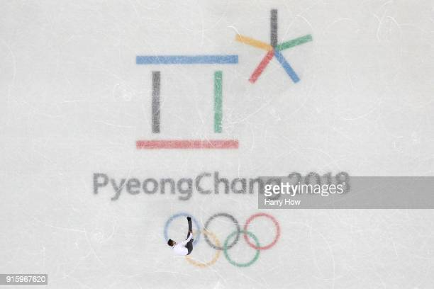 Matteo Rizzo of Italy competes in the Figure Skating Team Event Men's Single Skating Short Program during the PyeongChang 2018 Winter Olympic Games...