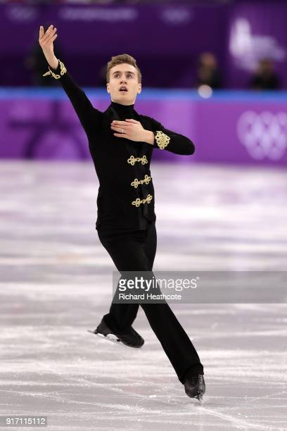 Matteo Rizzo of Italy competes in the Figure Skating Team Event – Men's Single Free Skating on day three of the PyeongChang 2018 Winter Olympic Games...