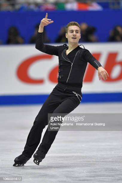 Matteo Rizzo of Italy competes in the Men's Free Skating during day two of the ISU Grand Prix of Figure Skating NHK Trophy at Hiroshima Prefectural...