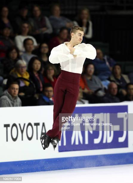 Matteo Rizzo of Italy competes in the Mens Short Program during the ISU Grand Prix of Figure Skating Skate America on October 19 2018 in Everett...